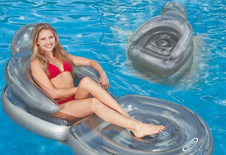 klapp sessel zum sonnenbr unen schwimmsessel luftmatratze luftsessel pool ebay. Black Bedroom Furniture Sets. Home Design Ideas