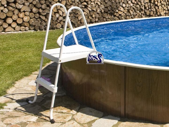 K rzbare hochbeckenleiter pool bis 120 cm aufstellleiter for Poolleiter bei obi
