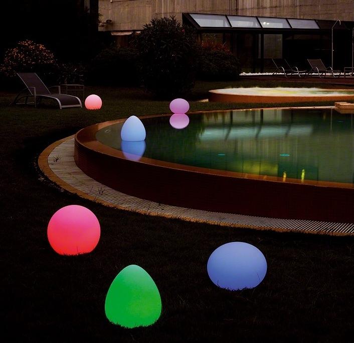 schwimmende leuchtkugel kugel led leuchte pool. Black Bedroom Furniture Sets. Home Design Ideas