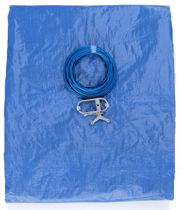 poolplane blau pool 3 60 m seilzug poolfolie poolabdeckung abdeckplane ebay. Black Bedroom Furniture Sets. Home Design Ideas