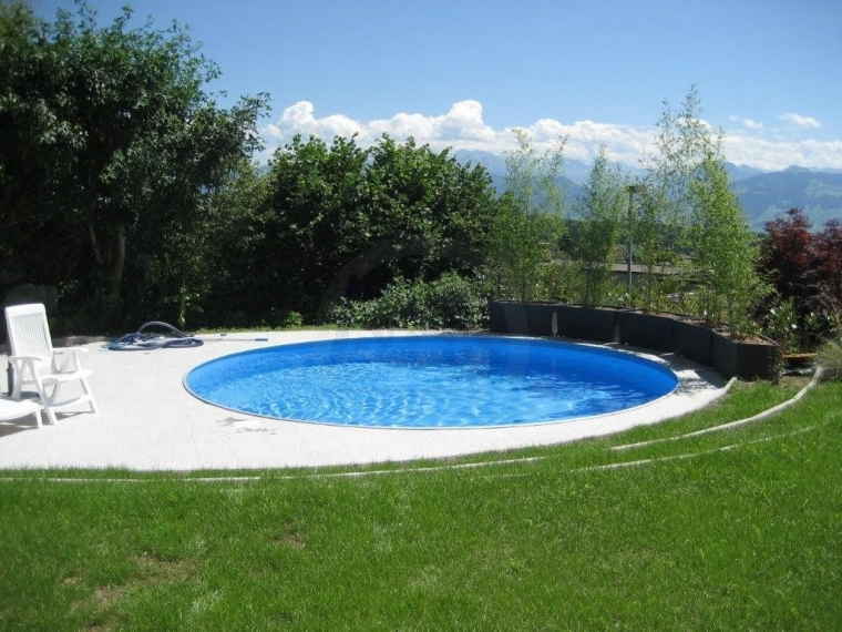 Rundbecken marlos 350 x 120 cm stahlwand rund pool for Stahlwandpool rund