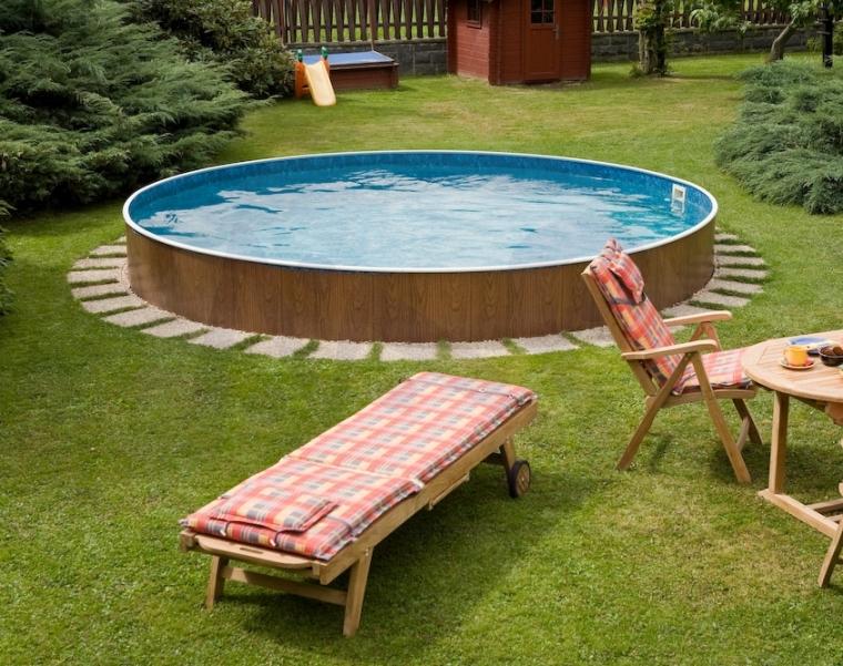 Rundpool 4 60x1 20 m schwimmbecken holzoptik filteranlage for Pool innenfolie