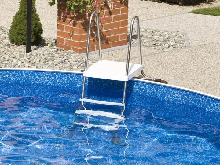 aufstellleiter edelstahl 120 cm k rzbare pool leiter. Black Bedroom Furniture Sets. Home Design Ideas