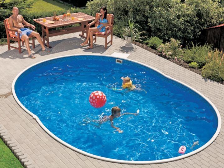 stahlwandbecken 5 50 x 3 70 x 1 20 oval pool swimmingpool. Black Bedroom Furniture Sets. Home Design Ideas