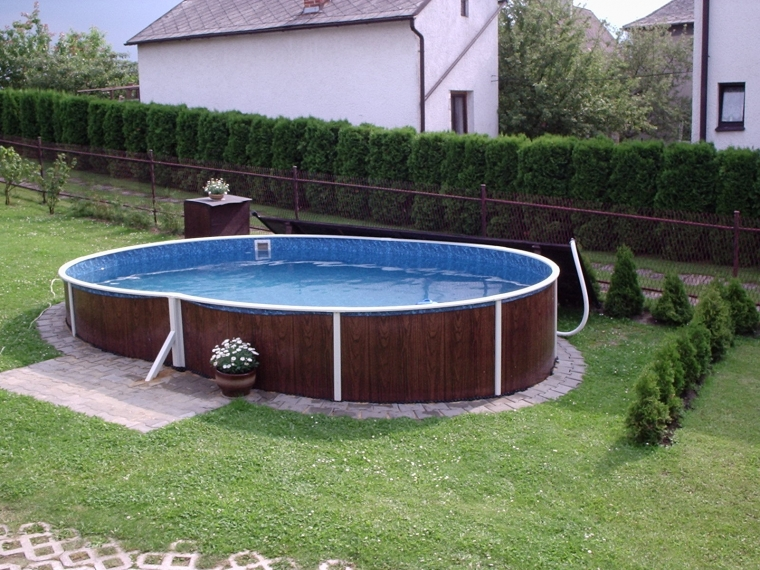 stahlwandbecken 7 30 x3 70 x1 20m oval pool swimmingpool. Black Bedroom Furniture Sets. Home Design Ideas