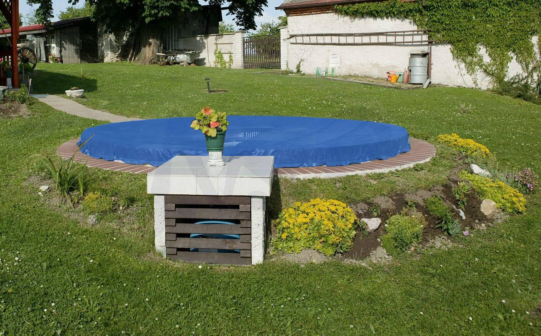 poolplane blau f r pool bis 4 60 m abdeckplane rund pool abdeckungen shop28. Black Bedroom Furniture Sets. Home Design Ideas