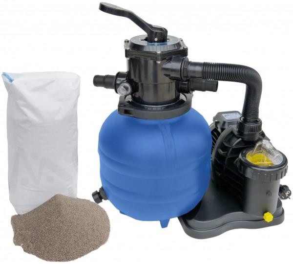 Sandfilter 300/5 Pumpe Speck 5 m³ inkl Filtersand