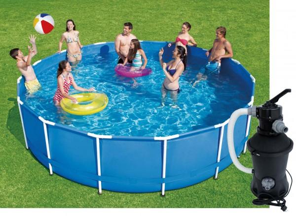 Swing Frame Metal Pool 366 X 91 cm mit Sandfilter
