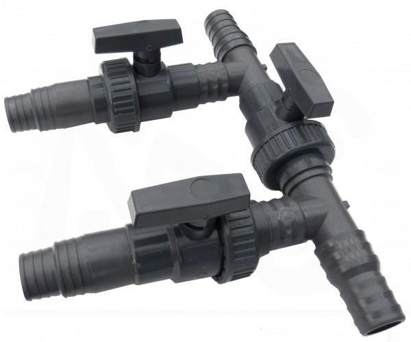 Bypassventil für Wärmepumpe mit Schlauchanschluß 32 / 38 mm