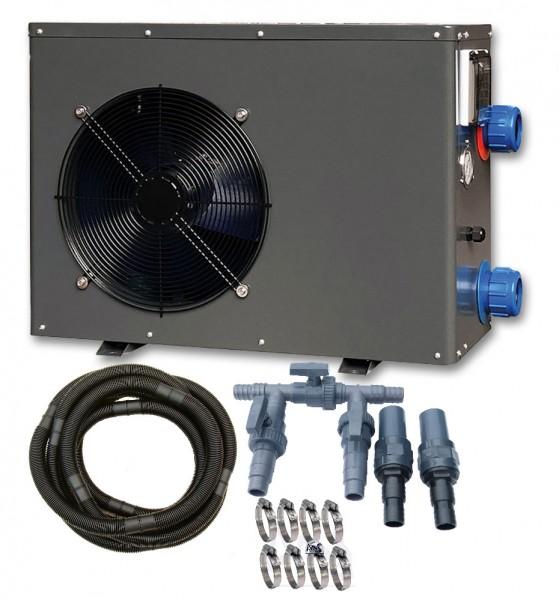 Wärmepumpen Set 3 kW mit Bypass-Set für Schlauch 38mm