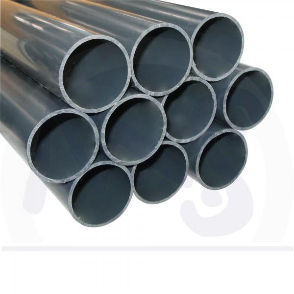 6 m PVC Druck Rohr d 50 mm 3 x 2 m