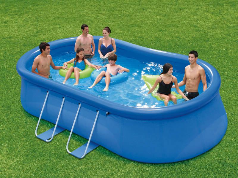 QUICK Up Pool oval 4,57m x 2,74m x 1,07m Schwimmbad Planschbecken Schwimmbecken