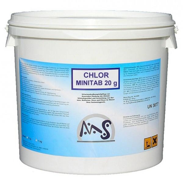 Chlor Mini 20g Tabletten 5 kg Eimer