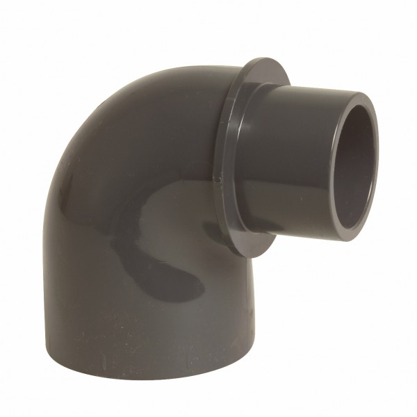 Winkel 90°, reduziert 40/50 mm x 50 mm Klebemuffe