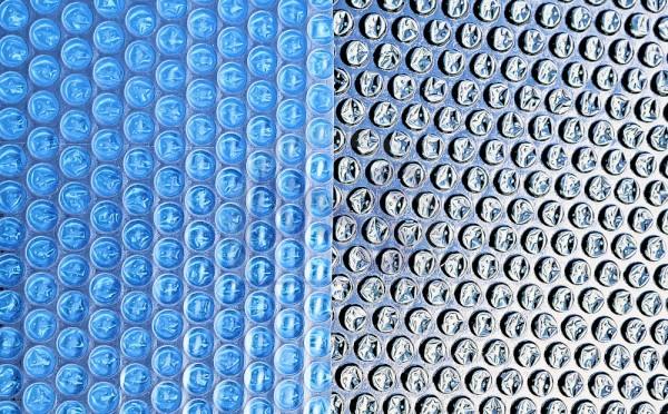 Retoure-Ware Solarfolie Azuro® 200 730 x 370 cm Oval blau/schwarz