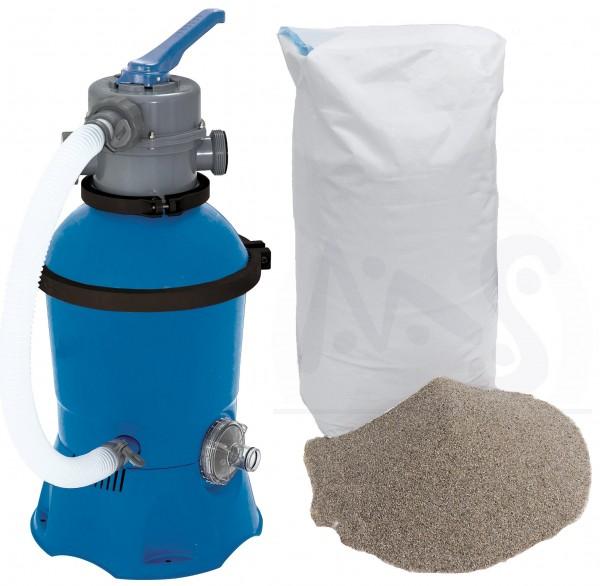Sandfilteranlage KOMPAKT SUN inkl. 25 kg Filtersand
