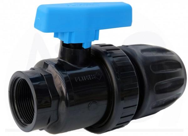 Kugelhahn mit Klemflex 50 mm und 1 1/2 IG