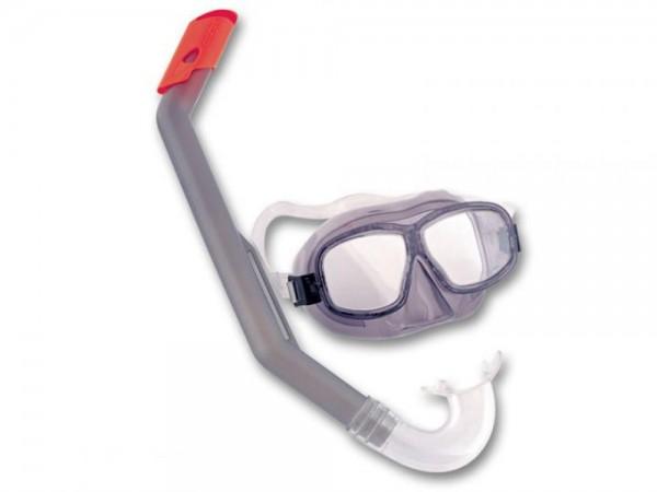 Tauchmaske mit Schnorchel Junior 7-14 Jahre grau