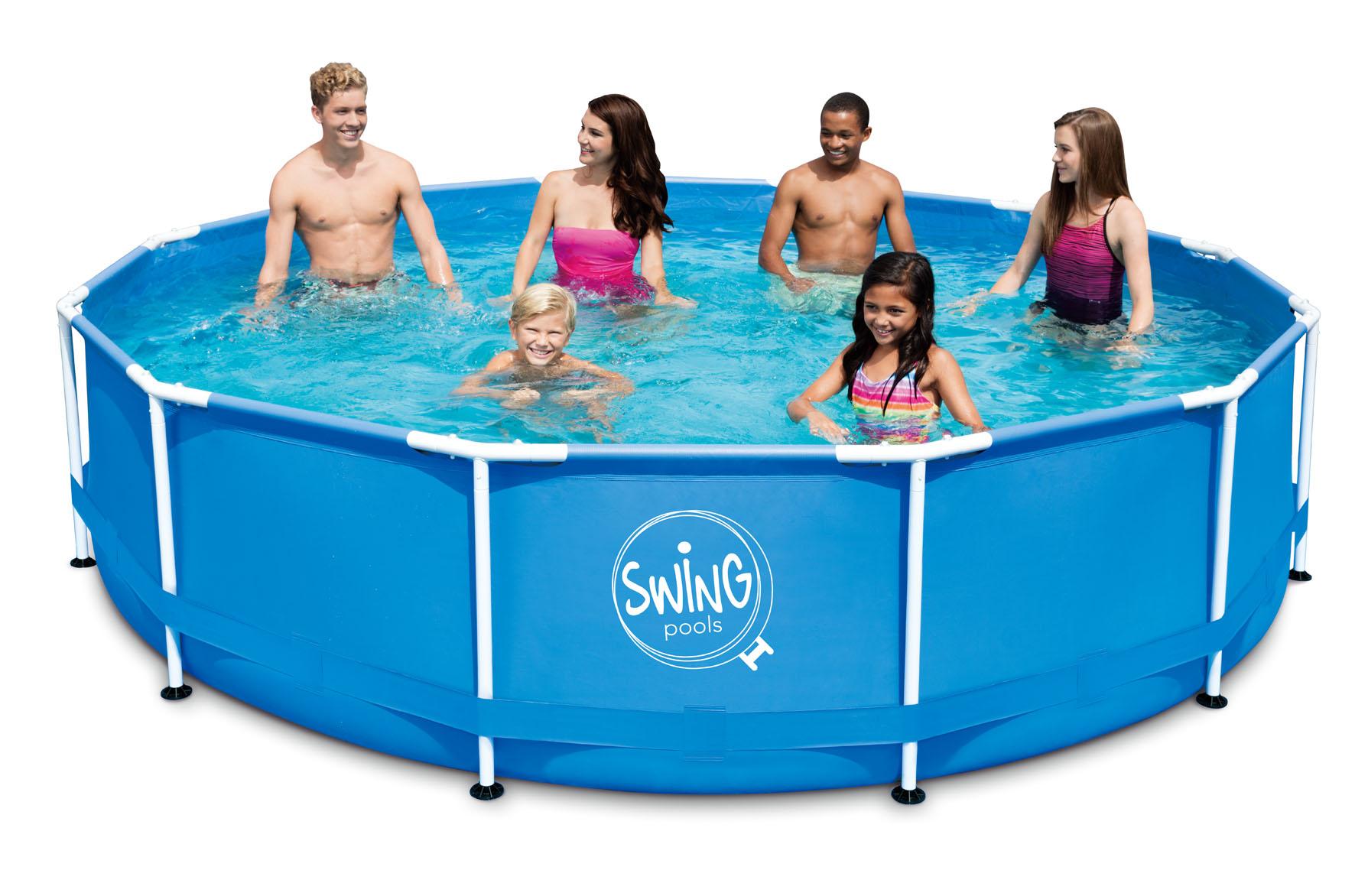 swing frame metal pool 457 x 122 cm quick up pool. Black Bedroom Furniture Sets. Home Design Ideas