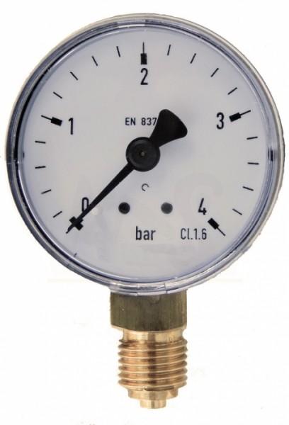 Manometer 50 mm - 1/4 Zoll 0-4 bar