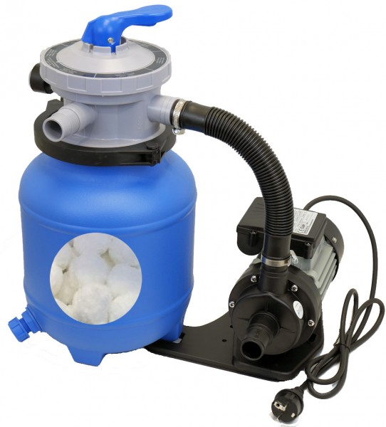 Sandfilteranlage Blue SWING 3,8m³/h mit Aqualoon 450g