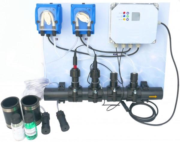 Automatische Dosieranlagen pH und Chlor vorinstalliert