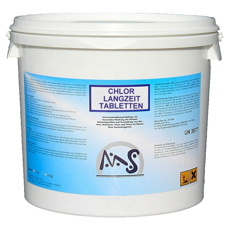 chlortabletten langzeit 5 kg eimer chlor produkte wasserpflege shop28. Black Bedroom Furniture Sets. Home Design Ideas