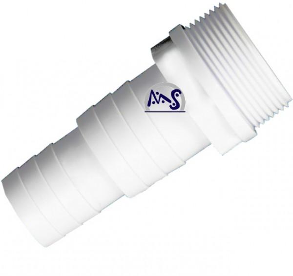 Schlauchtülle mit Gewinde 38/32 mm