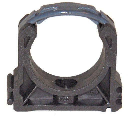 1 Stück PVC Rohrclips Rohrhalter 50 mm