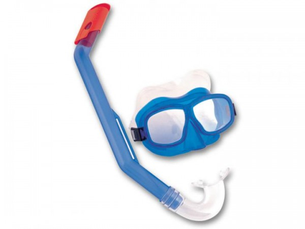Tauchmaske mit Schnorchel Junior 7-14 Jahre blau
