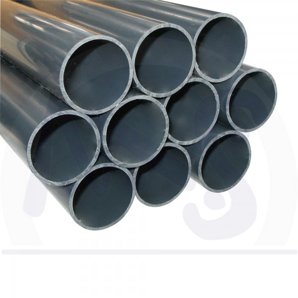 10 m PVC Druck Rohr d 50 mm 5 x 2 m