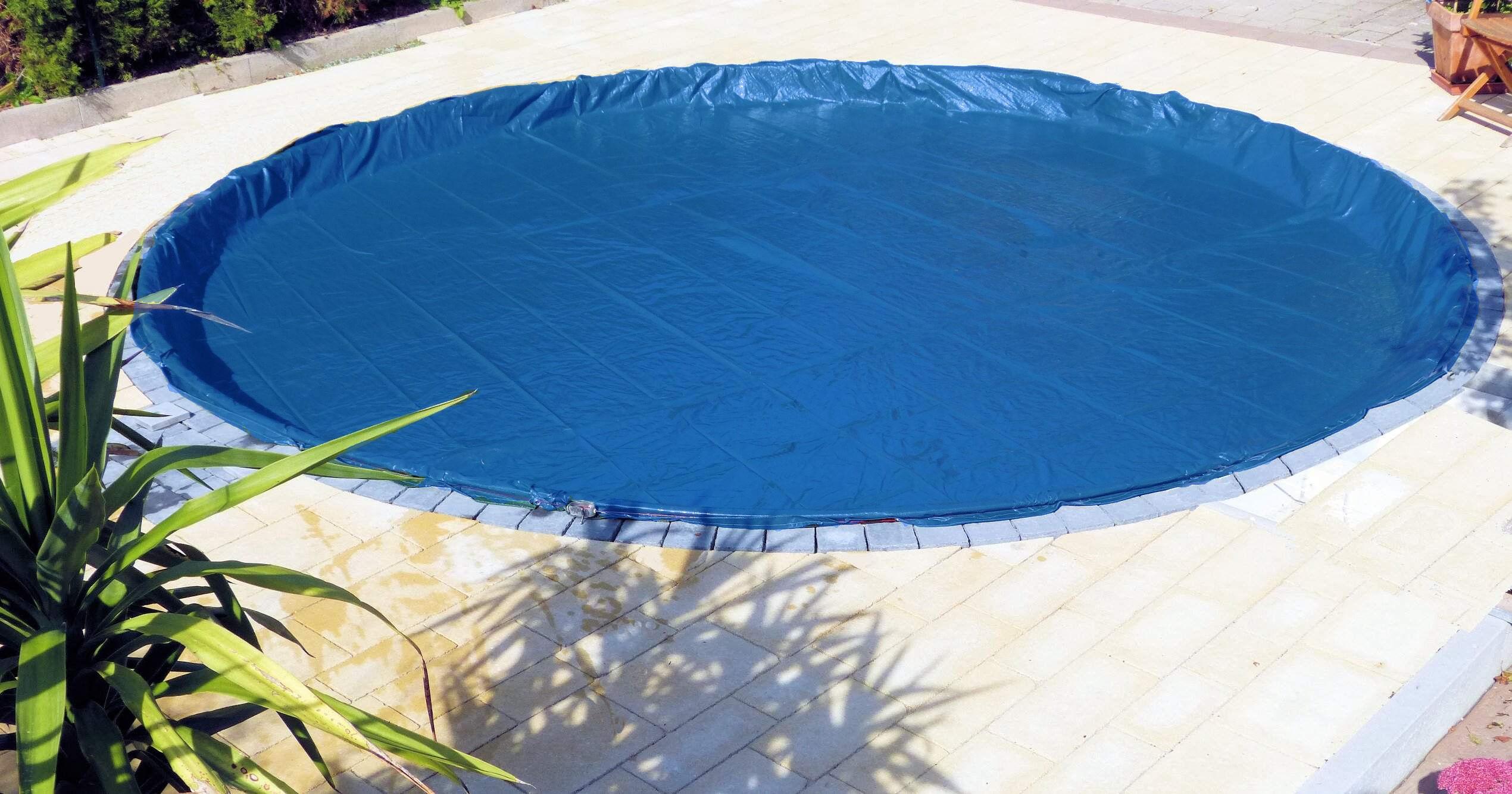 poolkissen 4 x luftkissen abdeckplane blau pool 3 66 m. Black Bedroom Furniture Sets. Home Design Ideas
