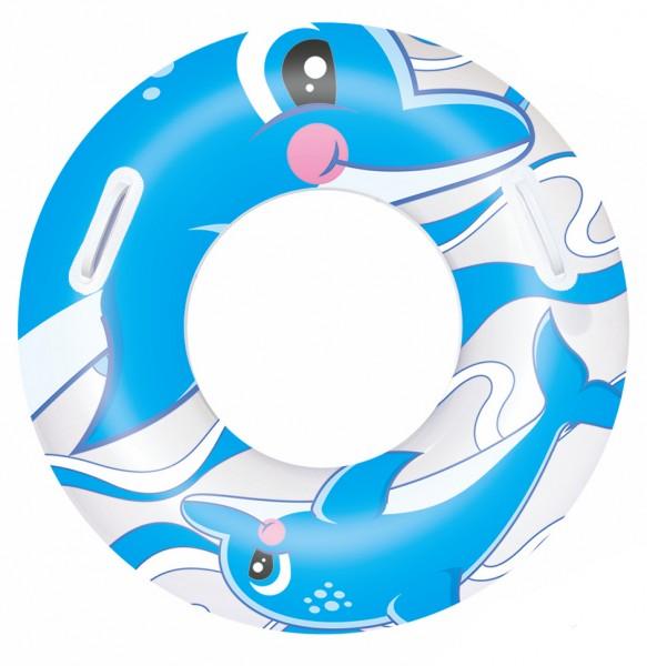 Bestway Schwimmring Ø 76 cm Delfin Blau