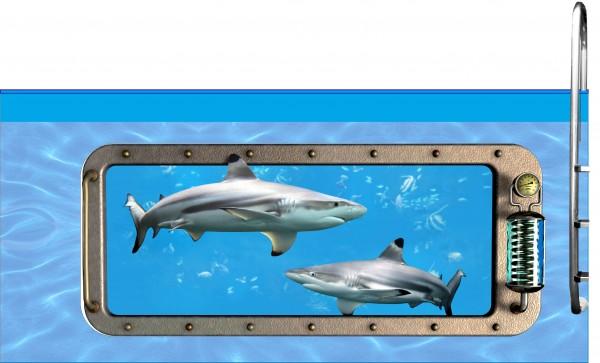 Poolaufkleber Nautic D 60 x 145 cm