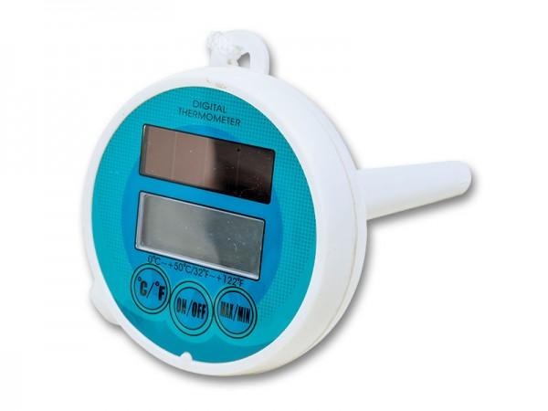 Digitales Thermometer mit Solar