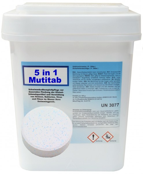 Multifunktion Chlor 5 in 1 / 5 kg Eimer