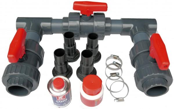 Bypass Set für Wärmepumpen d 50 mm