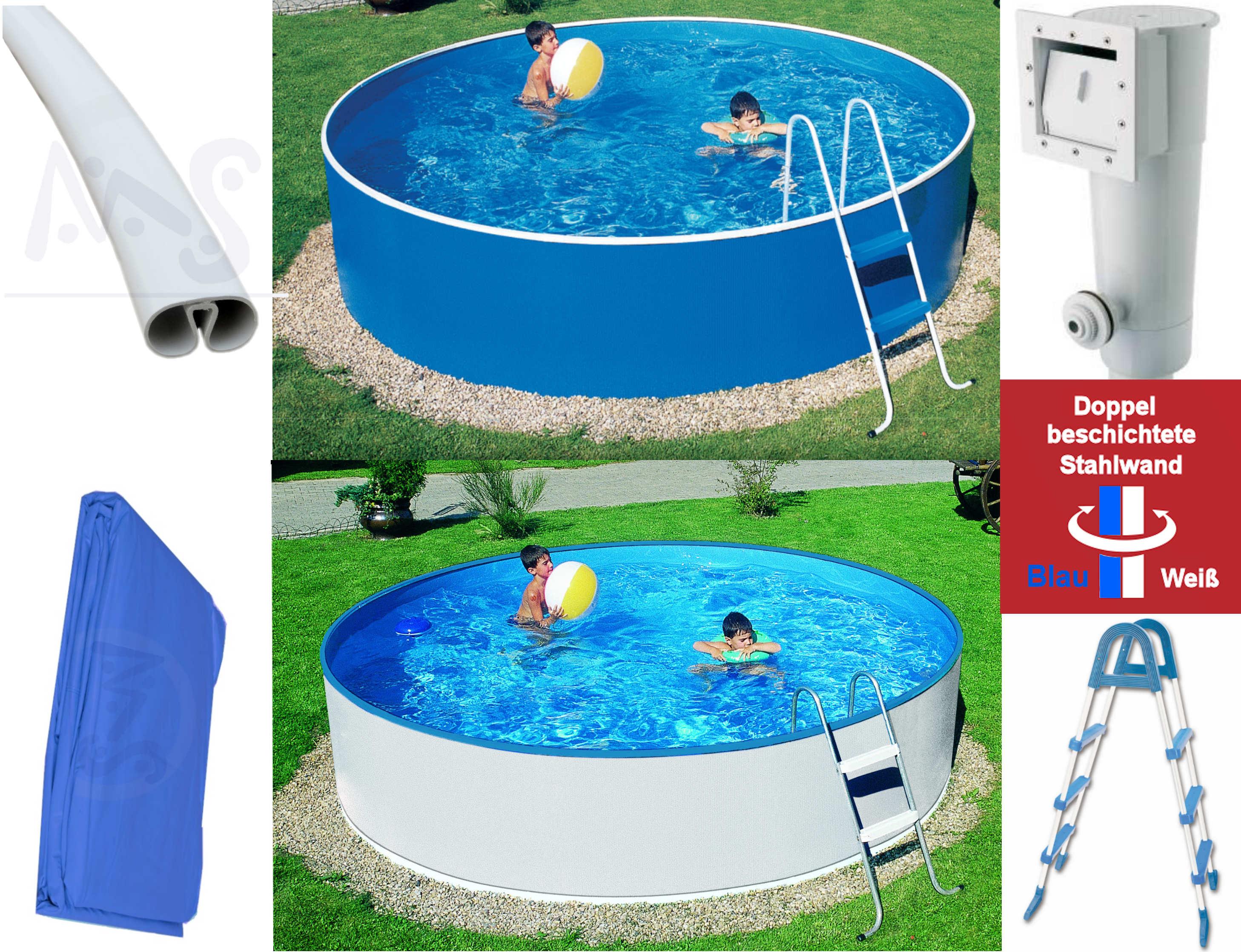 Schwimmbecken Set 460 M X 090 M Komplettset Mit Filter Azuropool