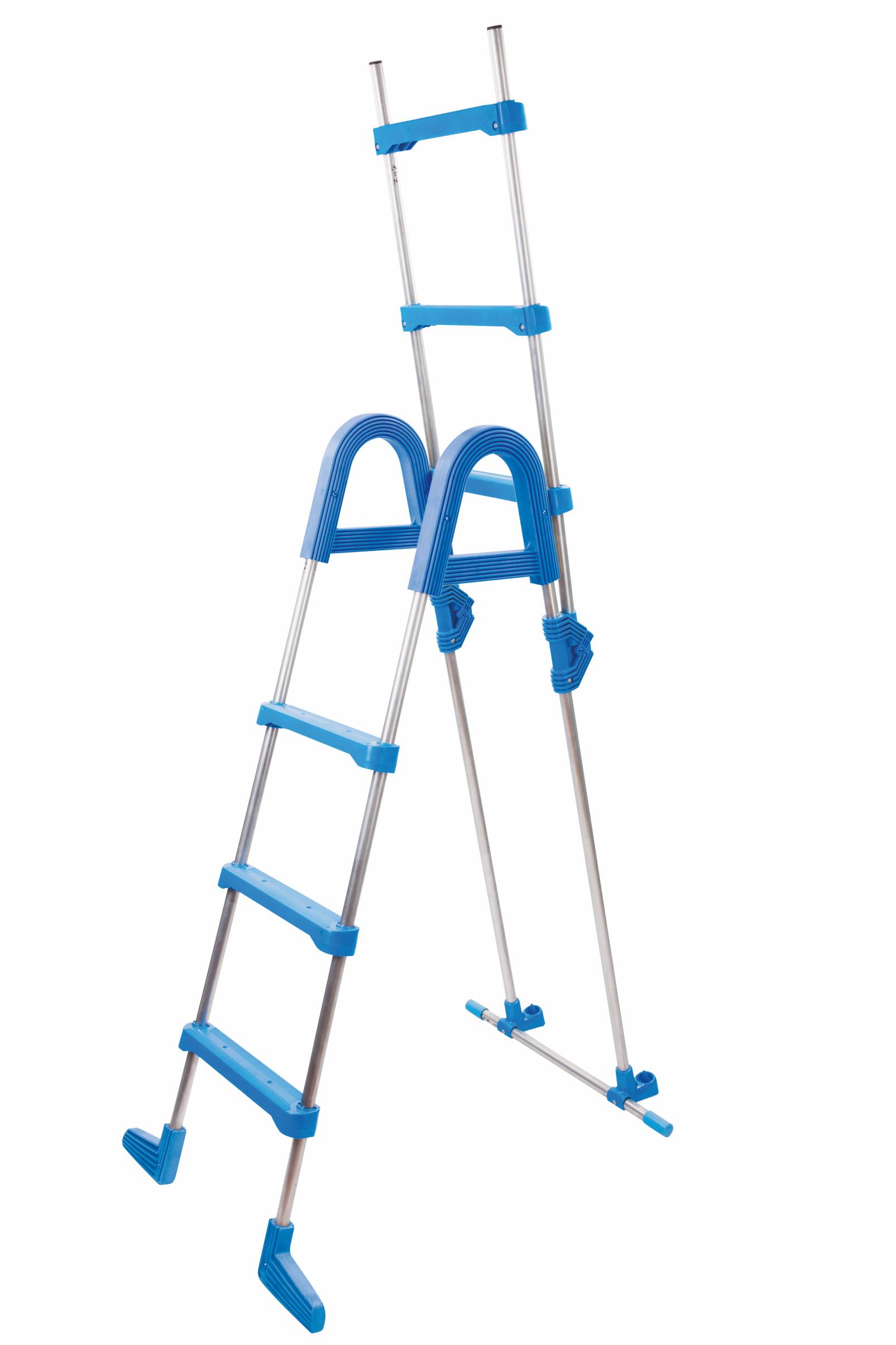 Poolleiter Aufstellleiter bis 123 cm Kürzbare Pool Leiter Hochbeckenleiter